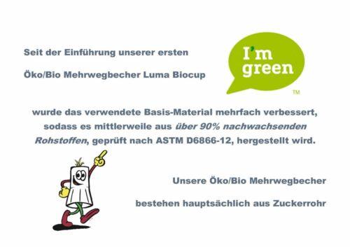 Bio//ecológica vasos de plástico vasos de plástico fiesta vaso mehrwegbecher 0,3l