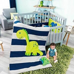 Image Is Loading New Baby Dino Dinosaur Boy Crib Bedding Nursery