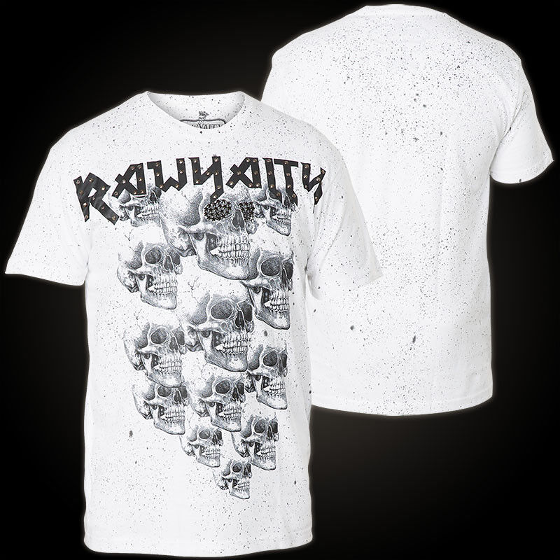 RAWYALTY T-Shirt Scattered Skulls white T-Shirts
