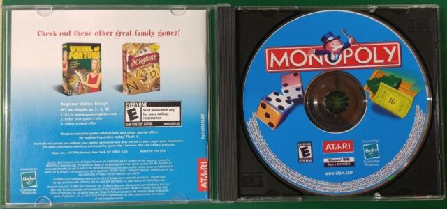 Monopoly (PC, 2001) Jewel case, Manaul, disc #13093