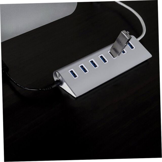 7 Ports Aluminum USB 3.0 Hub High Speed for PC Laptop Desktop + USB Cable og