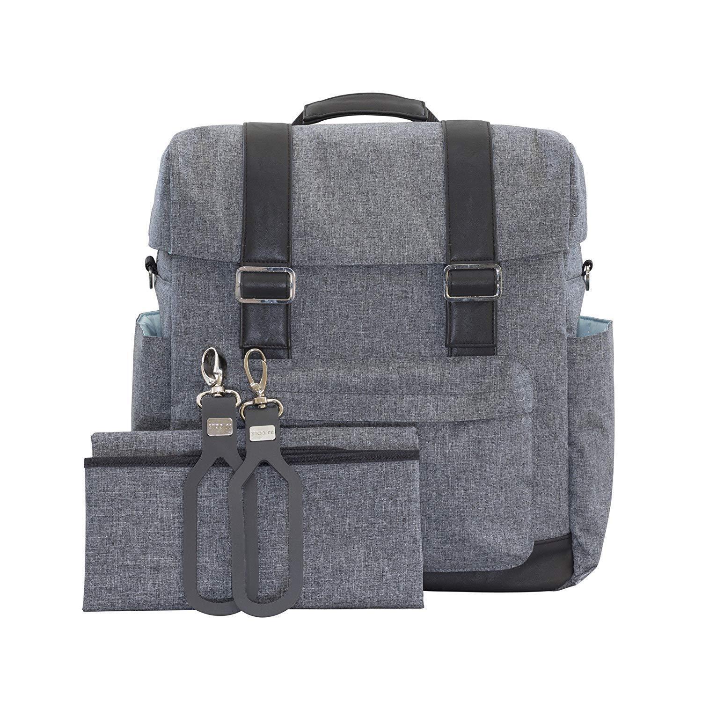 6a52d7b4bde JJ Cole Infant Baby Knapsack Diaper Bag Backpack Grey Gray Heather ...
