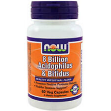 Acidophilus 60 Caps w/BIFIDUS 8 BILLION by Now Foods