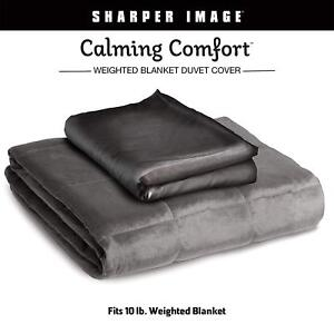 Calming Comfort By Sharper Image Official Duvet Cover For Grey