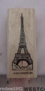Stampin-Up-World-Wonders-Eiffel-Tower-Paris-France-Single-Stamp-Wood-Mounted
