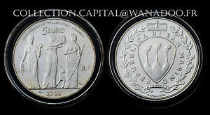 FDC 5€ 2003 San-Marin Argent