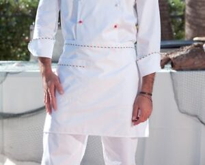 Clothing, Shoes & Accessories Men's Clothing Good Tablier Court Chef Cuisinier Profil Tricolore Drapeau Italie L373 Gp