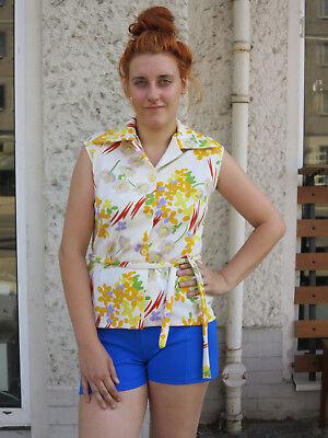 Prezzo Più Basso Con Diolen Loft 42 Smanicato Camicia Da Donna 70er True Vintage 70s Woman Shirt Blouse Top-mostra Il Titolo Originale
