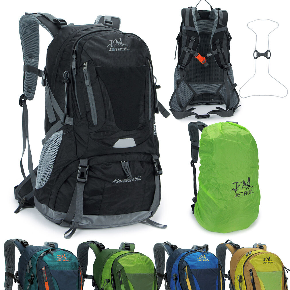 Hire 50L sport Travel Camp Backpack internal frame donna uomini cover