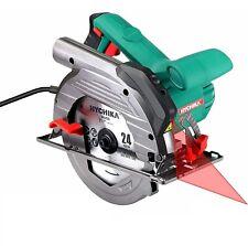 HYCHIKA Sierra Circular 1500W Guía Laser Motor de Cobre Puro Extrator de Polvo