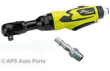 """Storm Force 3/8"""" Air Ratchet Impact Wrench Compact Handle Composite Heavy Duty"""
