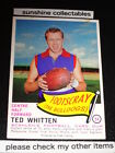1966 SCANLENS DIE CUT CARD NO.54 TED WHITTEN FOOTSCRAY EXCELLENT