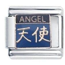 CHINESE SYMBOL ANGEL - Daisy Charms JSC Fits Classic Size Italian Charm Bracelet