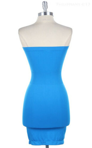 Sofra Pack CLUBWEAR STRAPLESS LONG TUBE SEAMLESS TOP STRETCHY SLIM FITS DRESS
