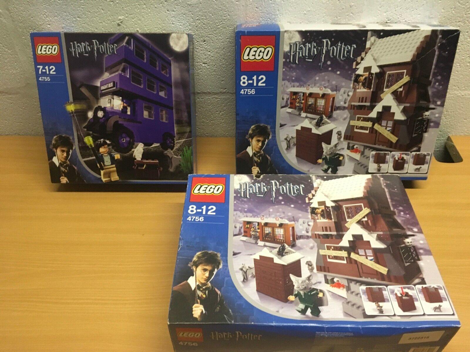 autorizzazione LEGO Harry Potter 4755 4756 NUOVO NUOVO NUOVO SIGILLATO stamberga strillante Knight autobus prima edizione  negozio all'ingrosso