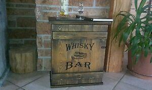 Mini-Bar-Whiskey-Frachtkiste-shabby-vintage-Schrank-Whisky-Couchtisch-massiv