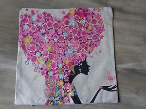 Fodera-Cuscino-Flower-Potenza-in-Cuore-Nuovo-senza-Marca-45-cm-x-45-CM