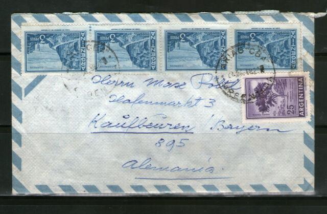 Argentina Argentinien Luftpost Cover Beleg 1968 KAUFBEUREN Deutschland gelaufen