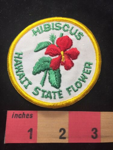Hawaii State Flower HIBISCUS Patch 87D8