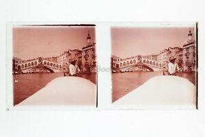 Venezia Italia Foto Amateur Placca Da Lente N1 Stereo Ca 1920