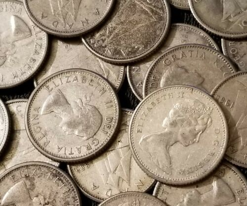 Silver Canadian Dime 80/% Silver Circulated Dimes 1920-1966 Buy more Save more!