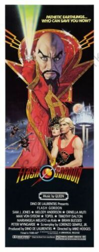 Flash Gordon Movie Poster Insert 14inx36in 36cmx92cm Replica
