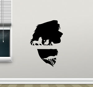 lion king wall decal simba timon pumbaa vinyl sticker kids nursery poster 208crt ebay. Black Bedroom Furniture Sets. Home Design Ideas