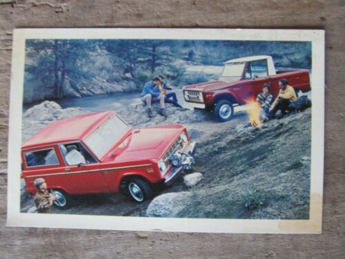 71 1971 FORD BRONCO Dealership Postcard THE RUGGED ADVENTURESOME 4-WHEELER