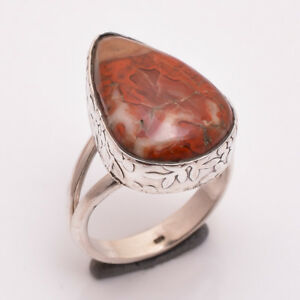925-Sterling-Silver-Ring-Size-US-7-Natural-Jasper-Gemstone-Women-Jewelry-R2703