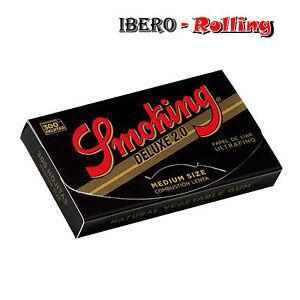 PAPEL-DE-FUMAR-10x-LIBRITOS-SMOKING-NEGRO-300-TAMANO-NORMAL-1-1-4-DELUXE-2-0