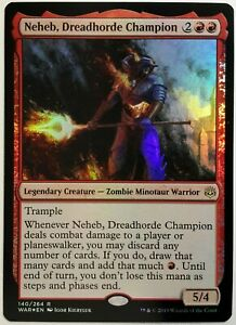 halpaa alennusta kuuma tuote viralliset valokuvat Details about 1x FOIL Neheb, Dreadhorde Champion Near Mint NM Magic  commander WAR OF THE SPARK