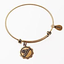 Bella Ryann Gold Plated Initial V Charm Bracelet