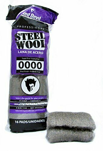 0000 Super Fine 16 Pads Red Devil 0310 Steel Wool