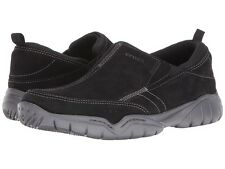NEW Crocs Men's Swiftwater Leather Moc Casual Loafer Black/Graphite Size 11