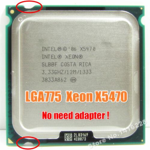 Xeon X5470 Processor 3.33GHz 12M 1333 close to Core 2 Quad QX9650 CPU Works...