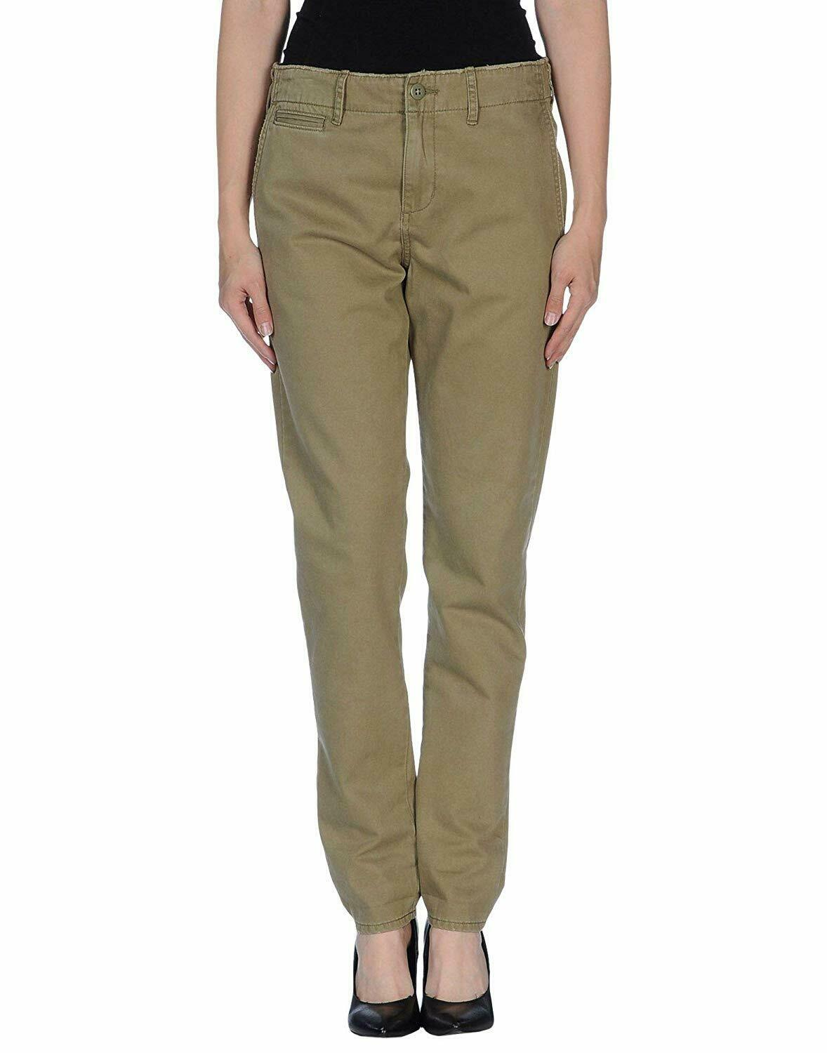 Denim & Supply Ralph Lauren Baumwolle Chino Hose Olive Grün Gr. 28 EU