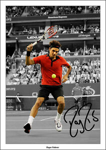 ROGER-FEDERER-SIGNED-PRINT-POSTER-PHOTO-AUTOGRAPH-TENNIS-US-OPEN-DJOKOVIC