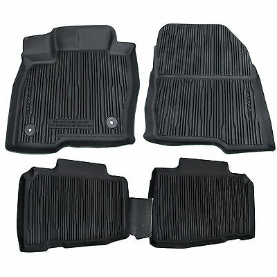 Oem New 2015 2020 Ford Edge All Weather Rubber Tray Catch All Floor Mats Black Ebay