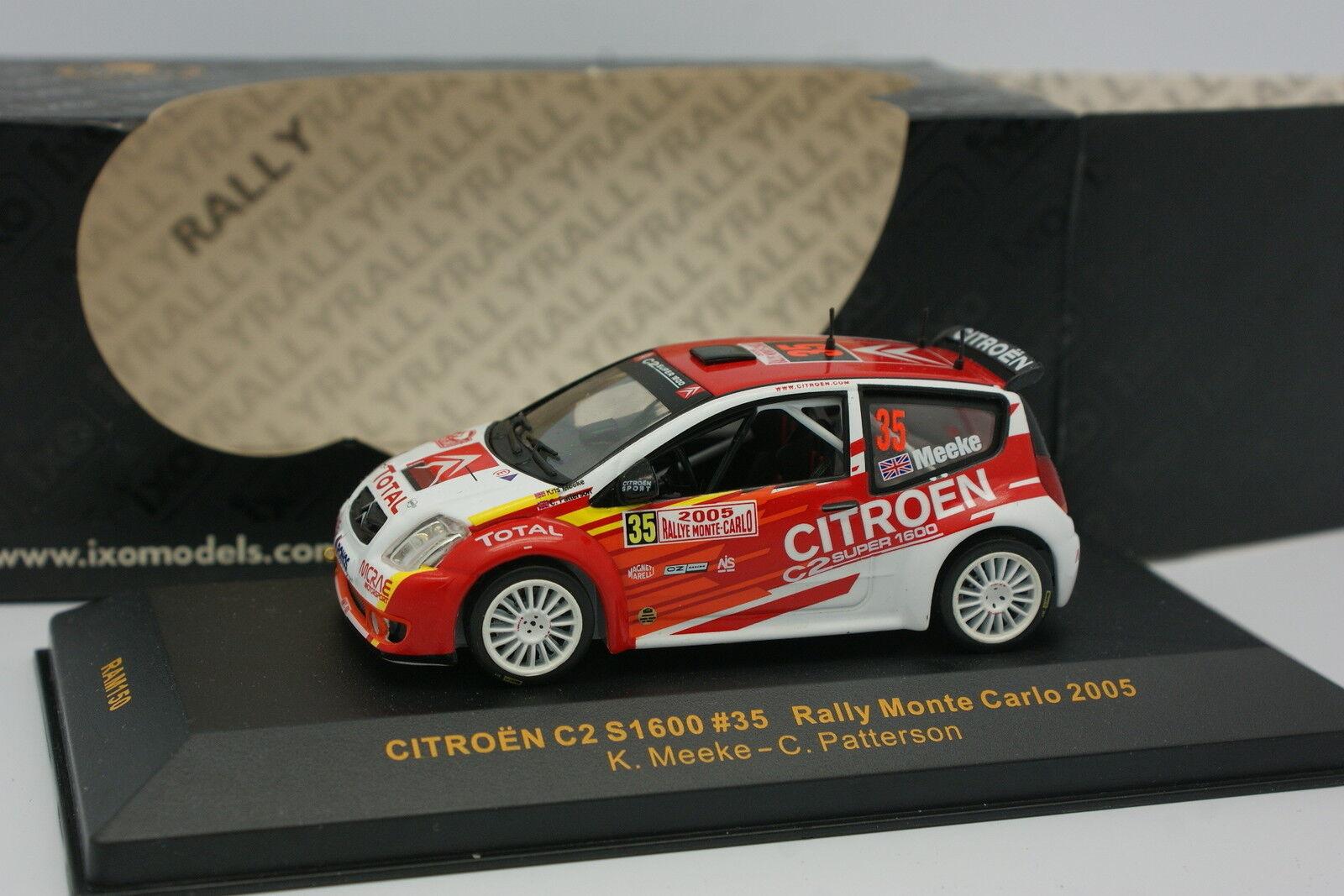 Ixo 1 43 - Citroen C2 S1600 Rallye Monte Cochelo 2005