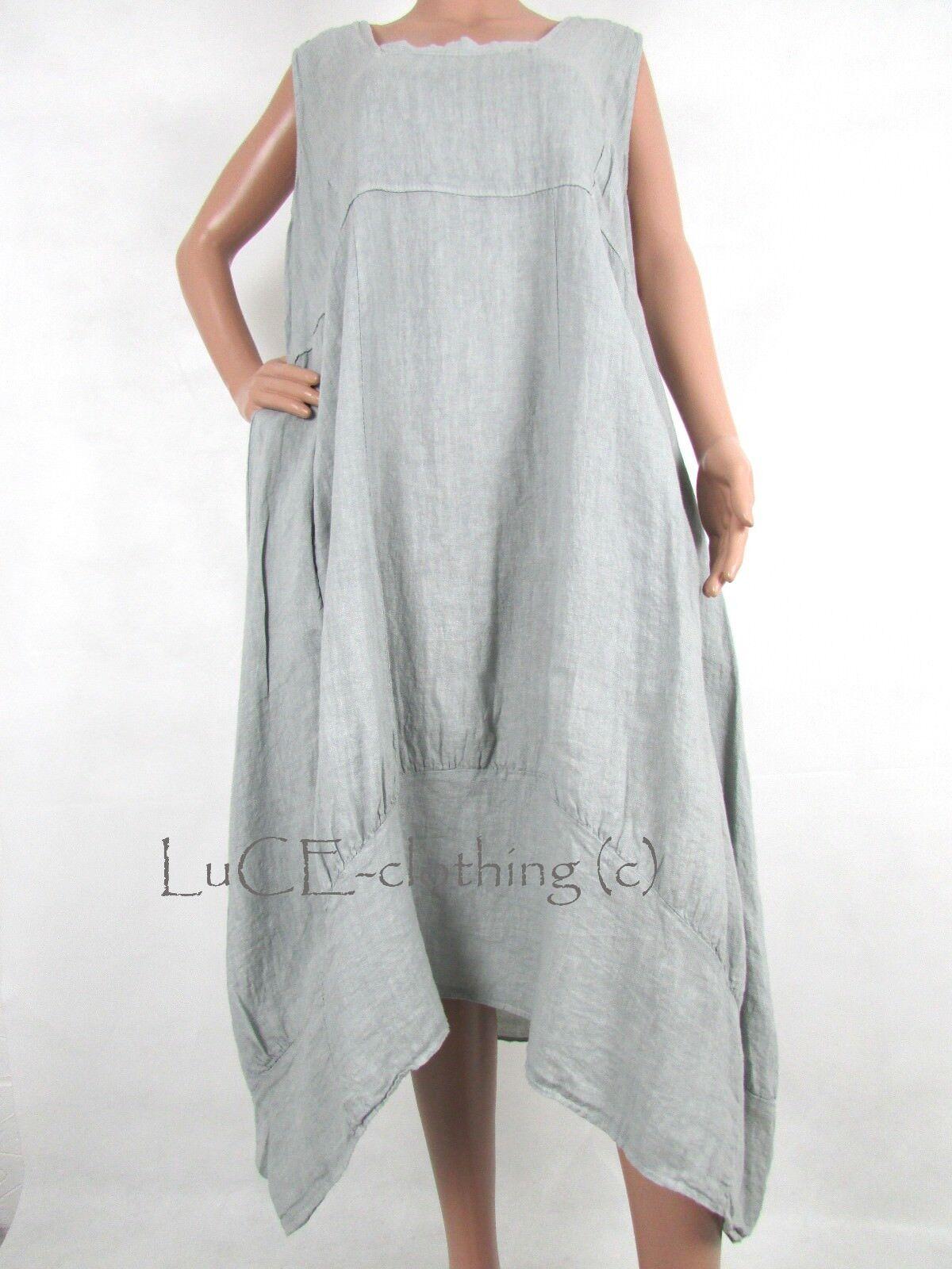 NEW Italian Linen OverGröße Lagenlook Plus Parachute Maxi Dress | | | Deutschland Store  b43a9e