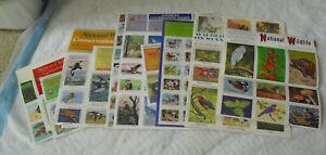 Lot of Vintage Sheets National Wildlife Federation Animal Stamps
