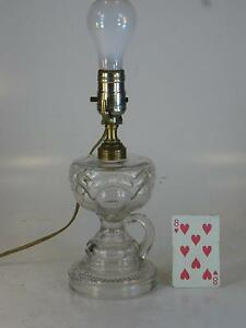 EAPG Lamp Electric-fide Pressed Glass Kerosene Lighting