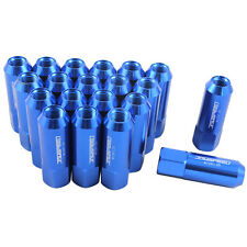BLUE JDMSPEED EXTENDED FORGED ALUMINUM TUNER RACING LUG NUTS M12X1.25 60MM 20PC