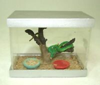 Dollhouse Miniature Terrarium Tank W Emerald Tree Snake 1:12 Scale Miniatures