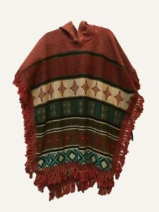 New-Unisex-Cotton-amp-Wool-Boho-festival-Hippie-Poncho-Free-Size