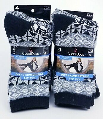 CUDDL DUDS Women/'s Leg Layering 5 Pair Crew Socks Size 4-10 /& 10-12 CHOOSE SIZE