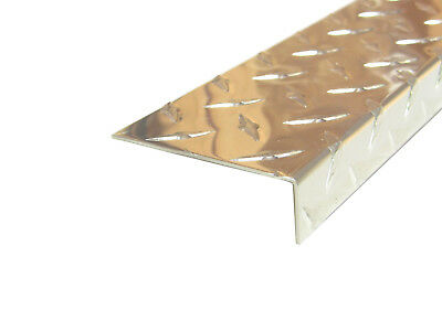 Aluminum Diamond Plate Angle .062 x 1 x 3 x 48 in Offset 3003 UAAC