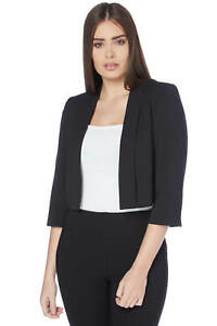 Navy Crepe Jacket ivory To black Originals Edge Blue Roman Women's Ow06qXW
