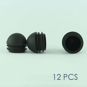12 Pcs Plastic End Cap Push In Tube Pipe Round Cover 1 1 8