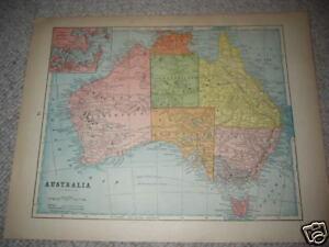 1890-AUSTRALIA-Antique-126-yr-old-original-color-antique-map